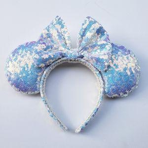 Blue Fire Iridescent Disney Minnie Park Ears